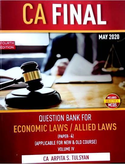ARPITA S TULSYAN For CA Final Hand Written Book on Company Law And Economics Laws & Allied Laws Paper 4 (Set of 4 Volume ) by ARPITA S TULSYAN