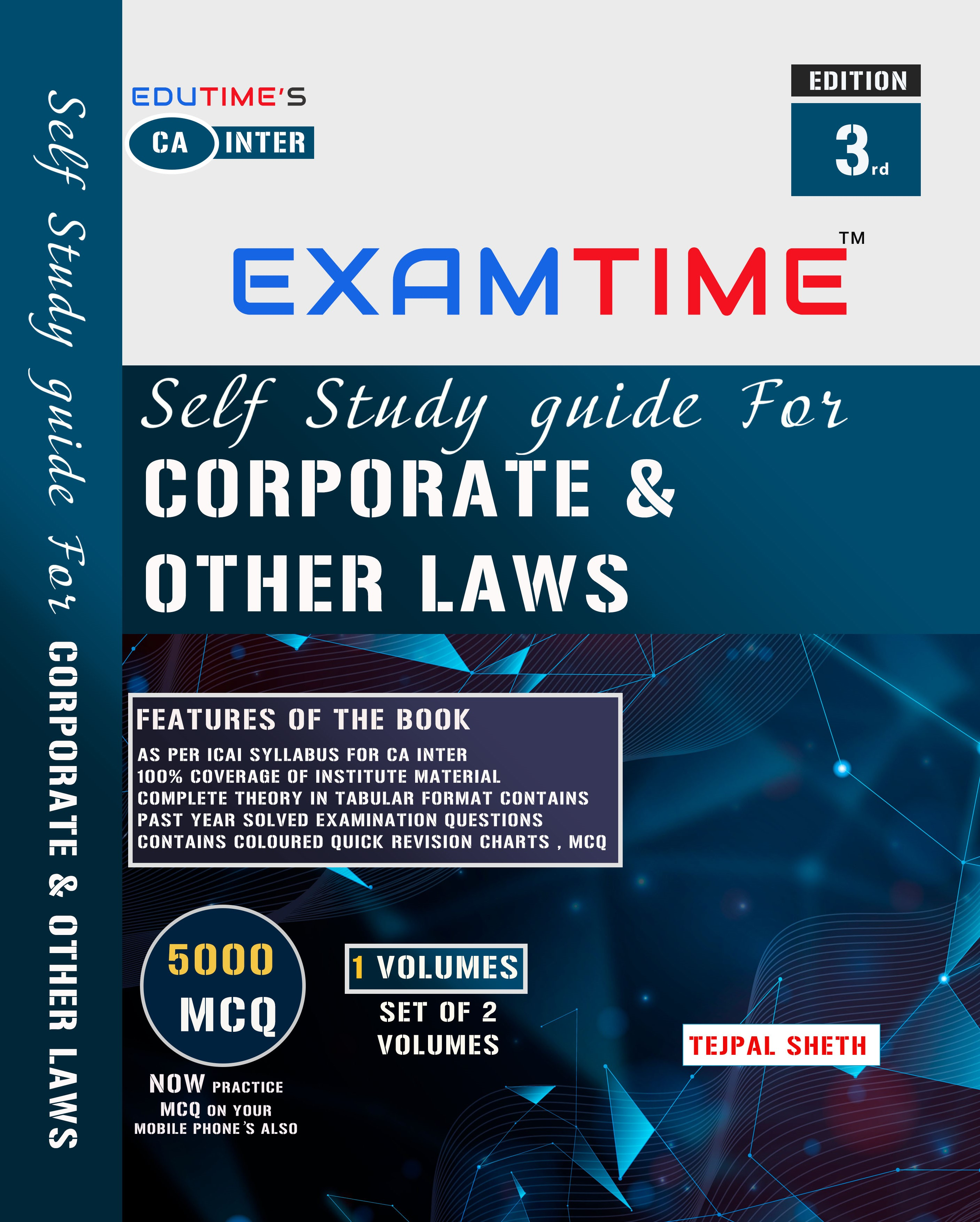 CA INTER EXAMTIME Self Study Guide for Corporate and Other Laws By Tejpal Sheth
