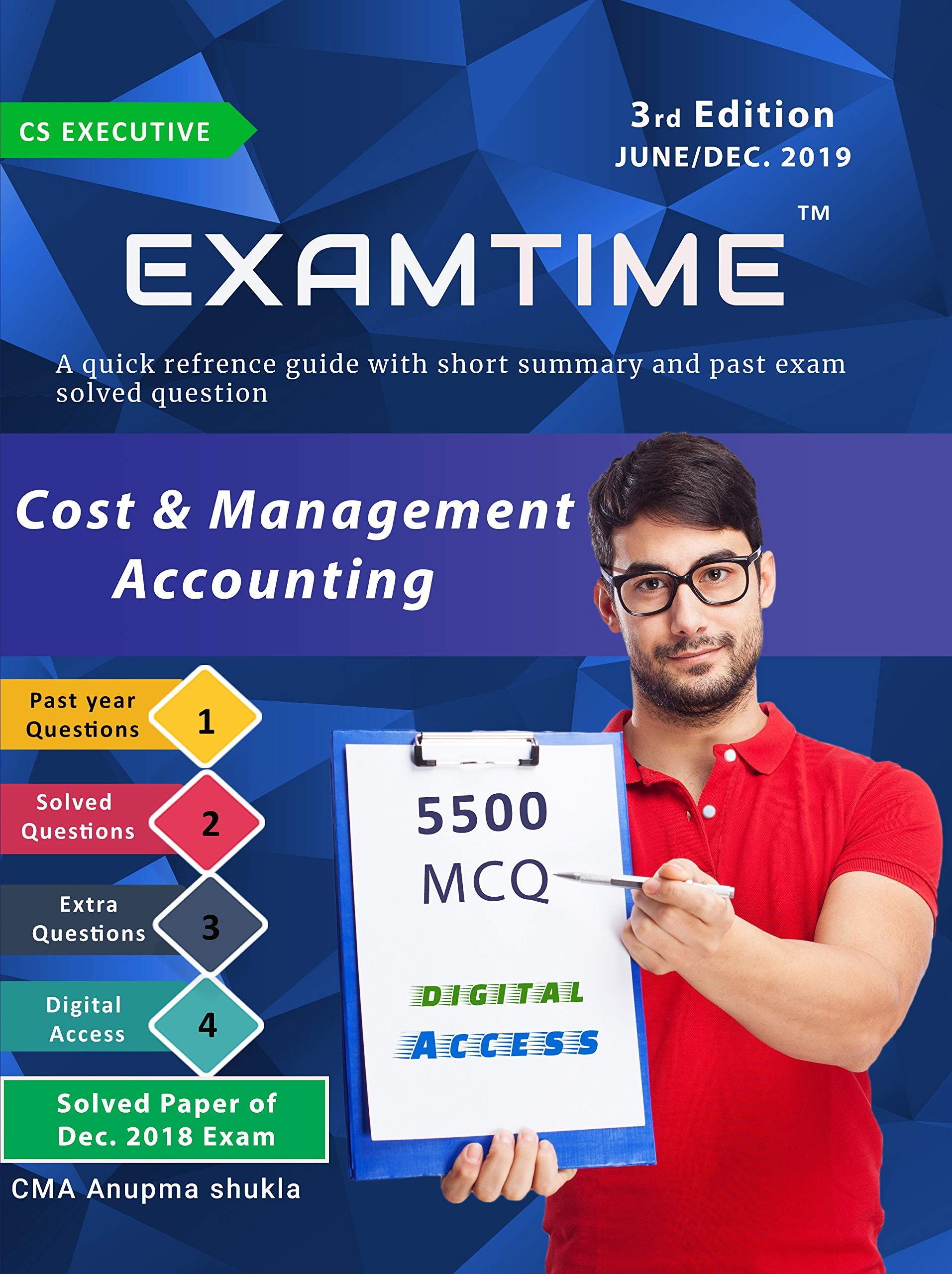 EXAMTIME Cost and Management Accounting MCQ By Cma Anupama shukla