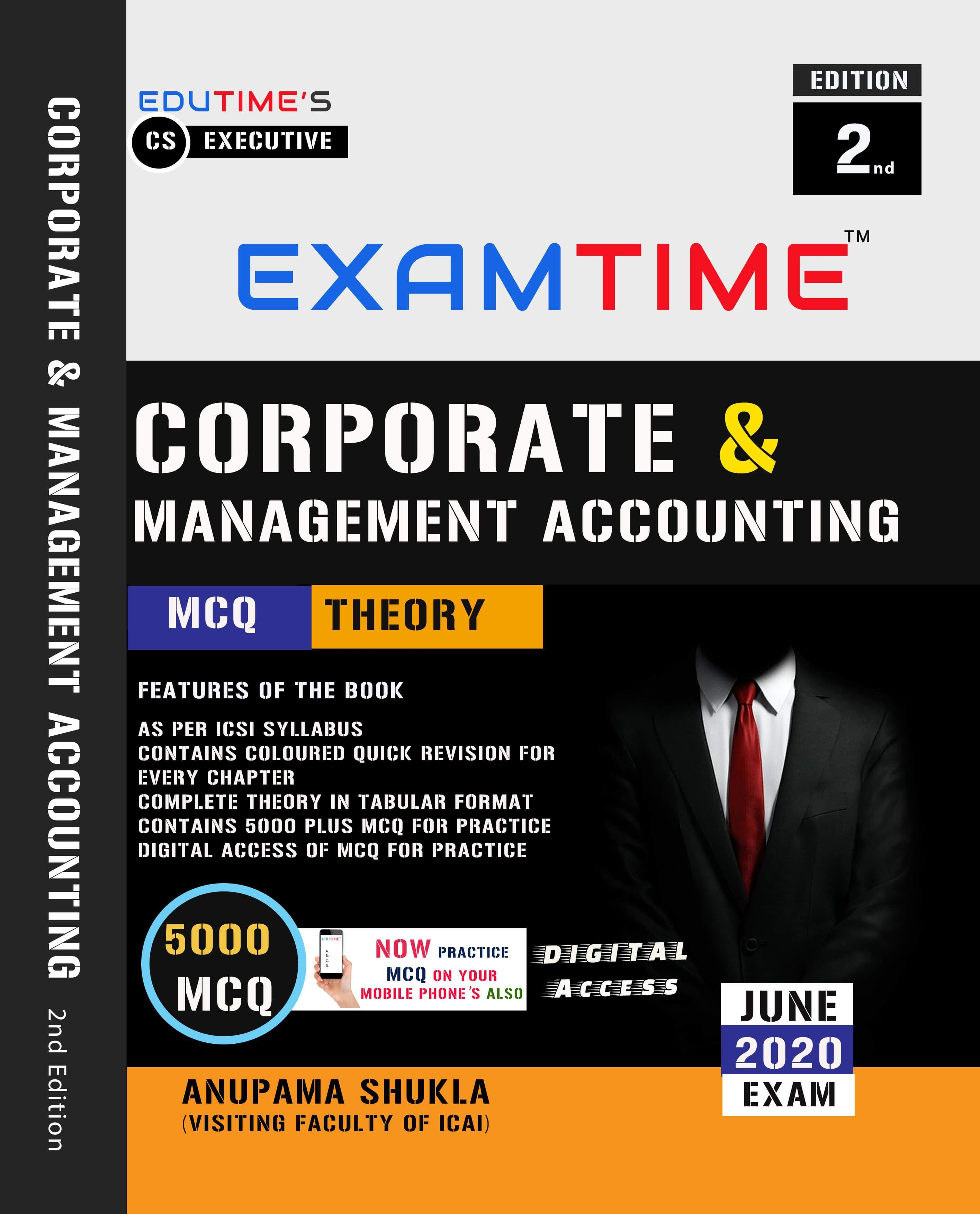 Buy EXAMTIME 5000 MCQ & THEORY ON CORPORATE & MANAGEMENT