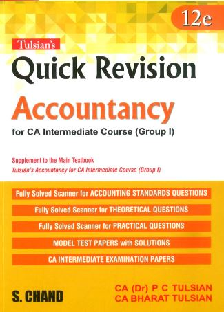 Tulsian's Accountancy with Quick Revision Book for CA Intermediate New Syllabus By P C Tulsian ,Bharat Tulsian